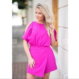 Hot pink romper- worn once